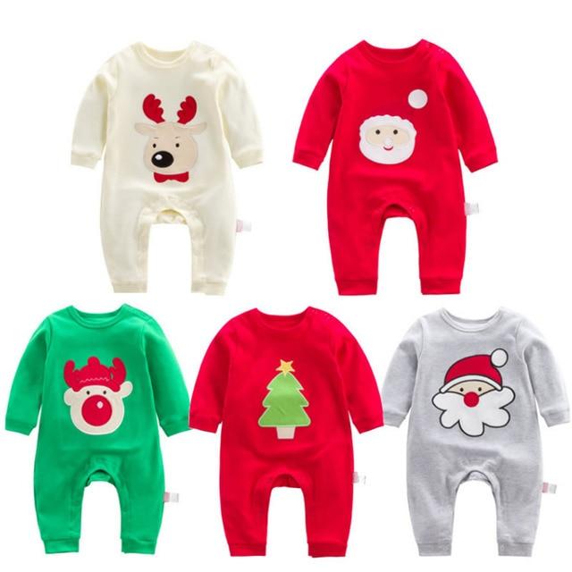 Newborn Baby Boy Girl Christmas Clothes Long Sleeve 1st Xmas Party