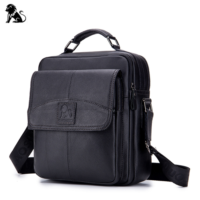 Men bags 100% Genuine Leather Shoulder Bag Men Business Casual CrossBody Bag Designer Cow High Quality Messenger Travel