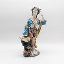 Lady Sculpture Figurine Manual Home Decor Statue Ceramic Ornaments Character Xue Baochai Crafts