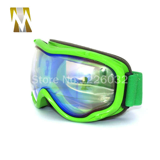 0f98bca3934 placeholder Green Frame ski goggles motocross google dual lenses uv400  goggles anti-fog snow skiing glasses