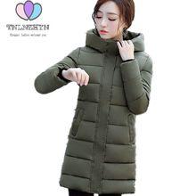 Tnlnzhyn 2018 Для женщин зимняя куртка пальто утолщаются теплый с капюшоном хлопковые куртки на пуху высокого класса средней длины ms. Костюмы верхняя одежда WA890