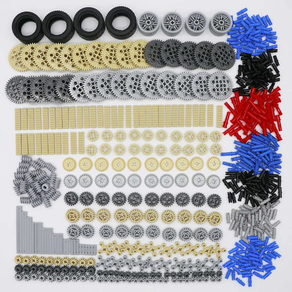Technic Parts Gear Blocks Cross Axles Accessory Car Tires Sets Truck Connector Toys compatible LegoINGlys Building Bricks 650PCS