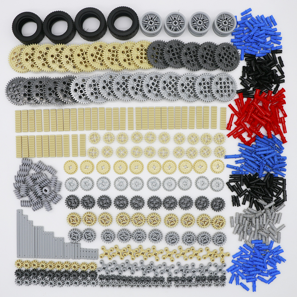 Building Blocks Technic Parts Gear Cross Axles Car Train Truck Accessories Set Connector Toy Compatible LegoINGlys Bricks 650PCS