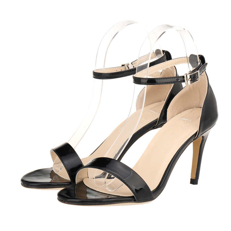 54c4ba2c36e9 2018 Summer Women Sandals Famous Brand Style High Heels Sexy Patent ...