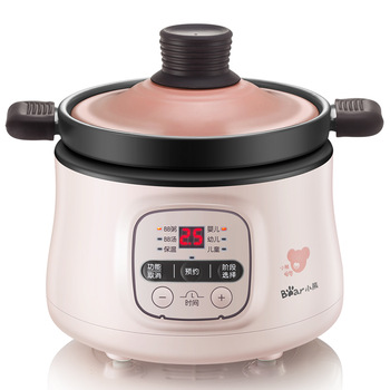 Automatic 220V Electric Baby Porridge Cooking Pot Mini Multi Cooker Electric Stewing Pot Cooker EU/AU/UK/US Easy Operation 1