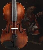 Vinlon2 High Quality Fir Violin 4 4 Violin Handcraft Violino Musical Instruments With Violin Bow And