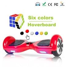 Электрический скейтборд балансируя Скутер два 6,5 дюймов колеса со светодиодной Bluetooth динамик 6,5 ЕС/доставка со склада в России