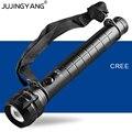 Светодиодный фонарик T6  перезаряжаемый тактический фонарь из алюминиевого сплава с ярким увеличением  5 Вт  для полицейских  охотников  кемп...