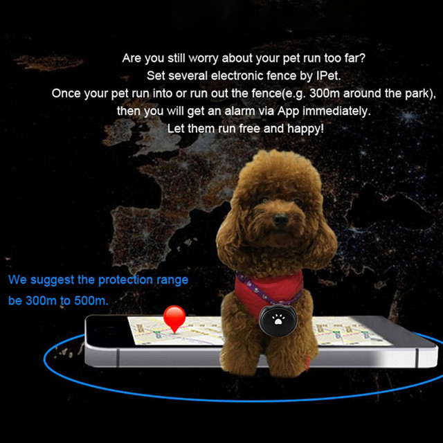 Tractive 3G MiNi Pet GPS AGPS LBS Tracking Tracker Collar For Dog Cat AGPS LBS SMS Positioning Geo-Fence Track Device