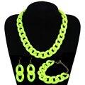 Женская акриловая цепочка, массивное ожерелье-чокер в богемном стиле с длинными цепочками, модные аксессуары