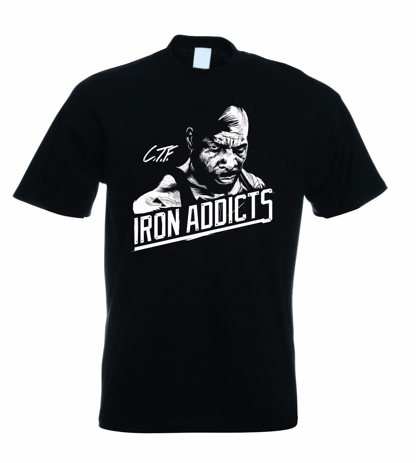 CT FLETCHER IRON ADDICTS T SHIRT GYMER BODYBUILDING MMA 100% Cotton T-Shirts for Man Top Tee 2018 New Arrival Men