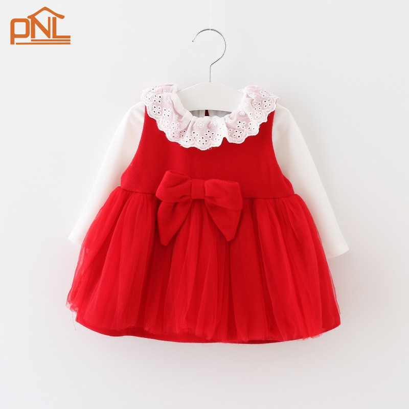 Baby girls clothes autumn long sleeve dress sets white T-shirt + vest dress 2pcs/sets