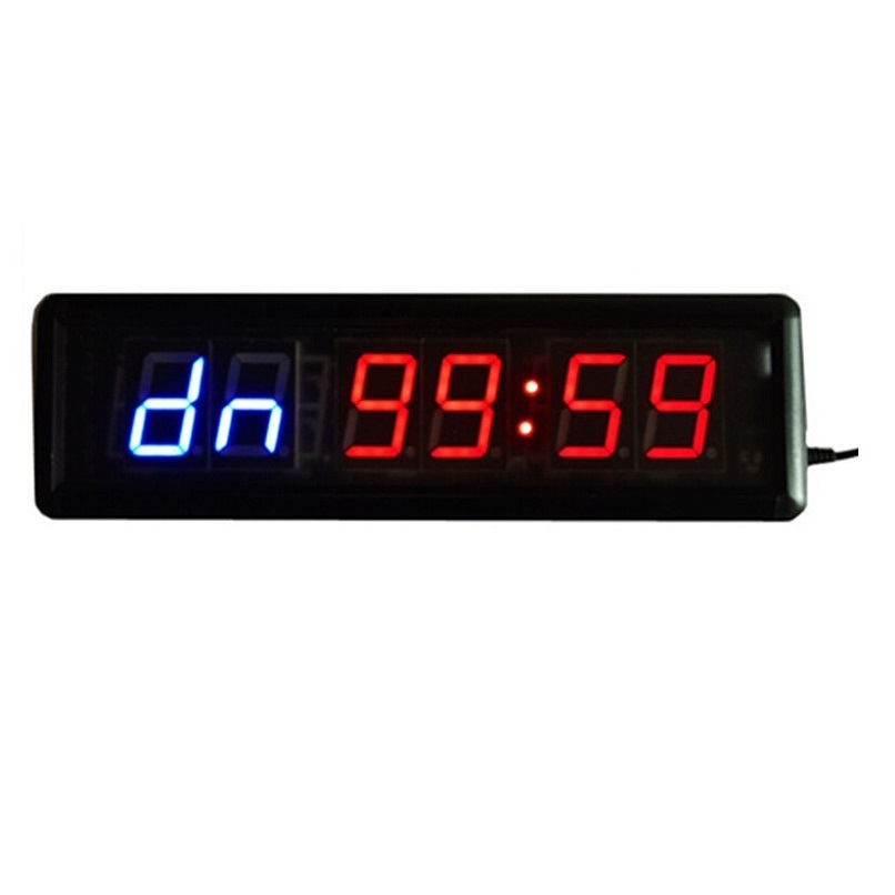 Digits led wall clock countdown interval
