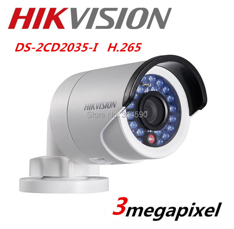 Фото HIKVISION Multi-language DS-2CD2035-I replace DS-2CD2032F-I 3MP H.265 Mini Bullet IP Camera Outdoor Security Camera