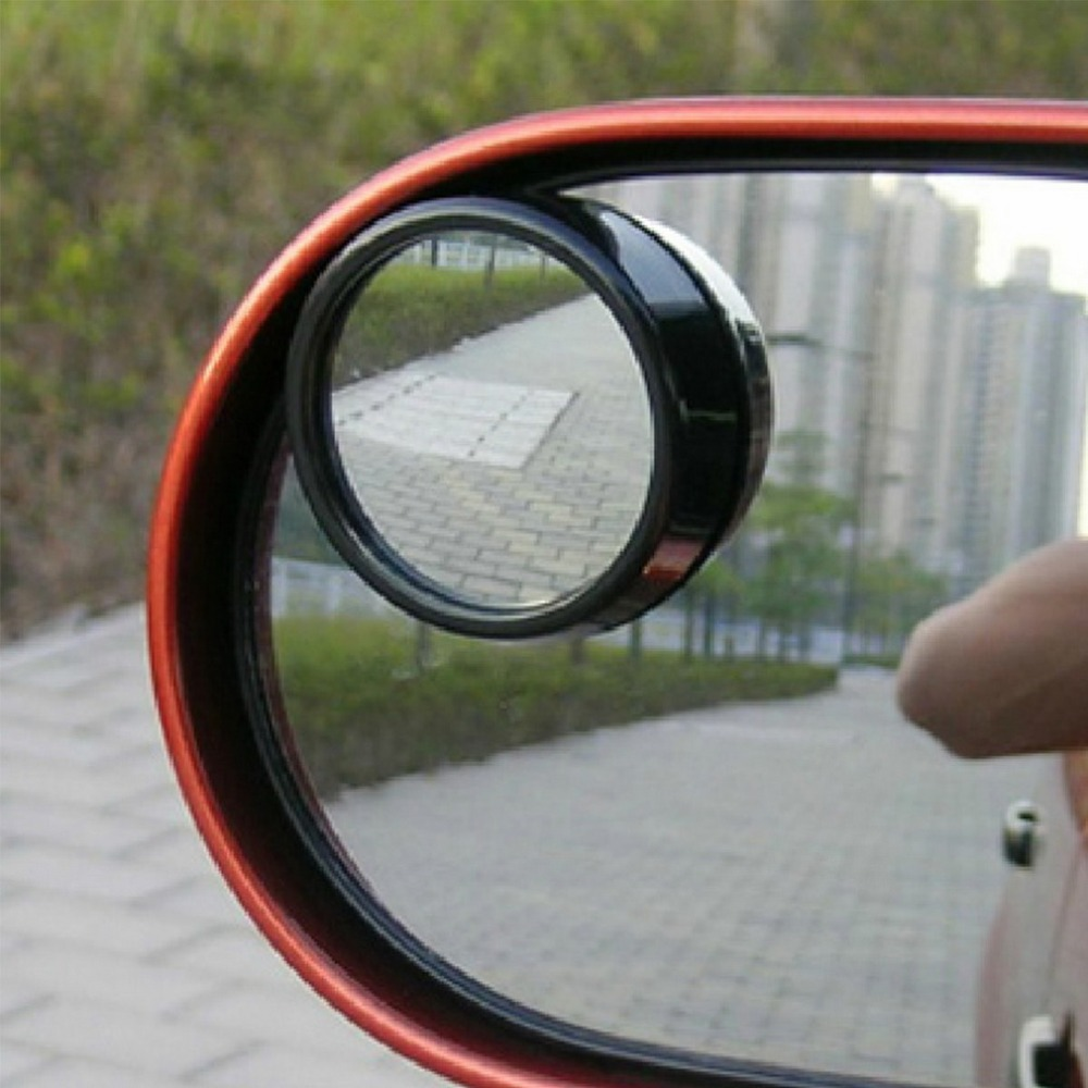 2pcs Universal Driver 2 Side Wide Angle Round Convex Car