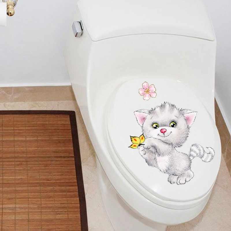 Xem civid 20*30 cm mèo tường stickers đối với trẻ em phòng phòng tắm nhà vệ sinh trang trí nội thất phim hoạt hình can tường động vật tự làm bức tranh tường nghệ thuật
