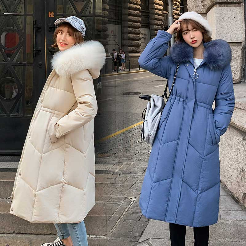 Fur   Coat   Hooded Winter   Down     Coat   Jacket Thick Warm Loose Casaco Feminino Abrigos Mujer Invierno Cotton padded Wadded Parkas 09