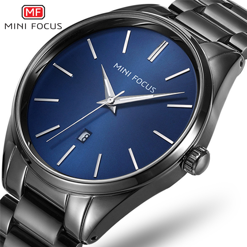 2017 Fashion Top Brand Business Men Male Luxury Watch Casual Full Steel Calendar Wristwatches Quartz Watches Relogio Masculino halei lovers watches crystal inlaid full steel quartz watch women men simple casual wristwatches silver clock calendar relojes