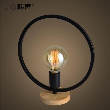 ФОТО Bedroom modern minimalist led American Pastoral retro iron art creative personality study European bedside lamp