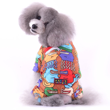 Pet Dog Hoodie Four legs Jackets Wear in Autumn Winter Soft Cotton Fleece  Coats with back pressing print jacket
