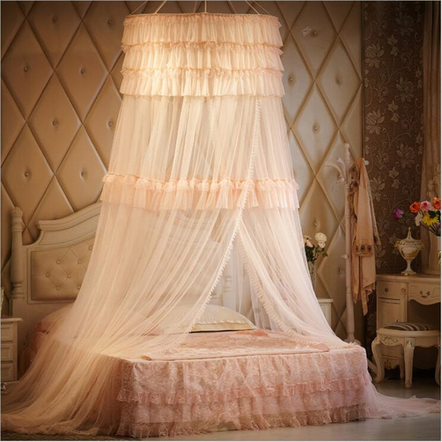 Princess Style Lace Curtain Children Baby Girls Mosquito Net Bed Canopy Tent Folding Mosquito Nets For & Princess Style Lace Curtain Children Baby Girls Mosquito Net Bed ...