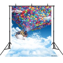 Cloud House Balloon Photography Background For Photo Shoot Props Child Kids Vinyl Cloth Printed Photo Backdrops Photo Studio interior room photography backdrops 3x5m vinyl print photo background for wedding party studio photo shoot vinyl c 0742