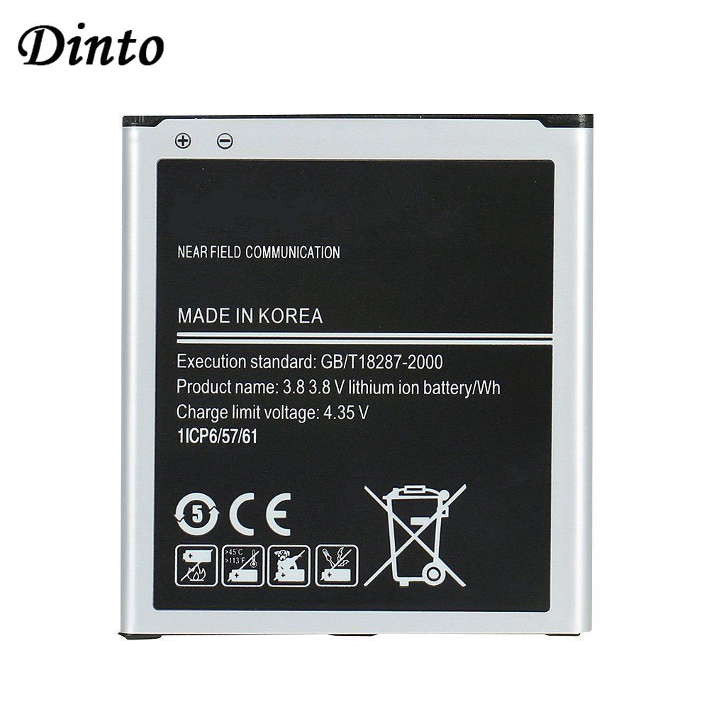 Аккумулятор Dinto для телефона Samsung Galaxy, батарея для телефона Samsung Galaxy Grand Prime, J3, J5, J5008, G530H, EB485760LU, с аккумулятором на 2600 мА/ч, с зарядным устройств...