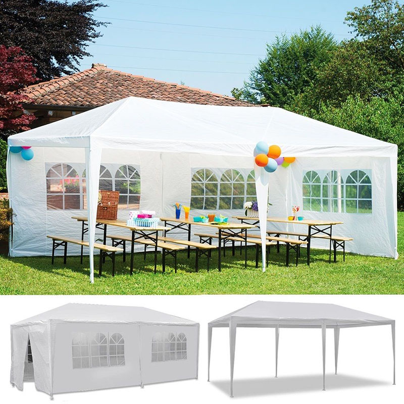 10u0027x20u0027 4 Window 2 Zipper Door Aluminum Patio Wedding Party Gazebos Outdoor  Shade