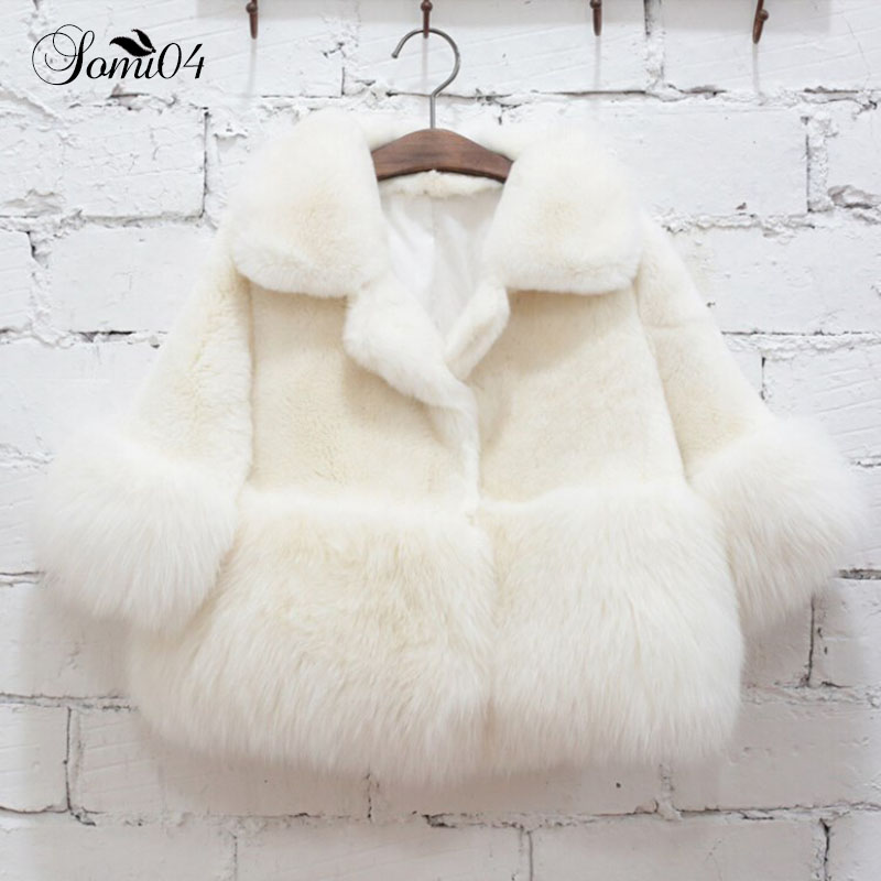Children 2018 Fashion New Girls Winter Coat Leather Grass Fur Baby Warm Plush White Coats Thickening Kids Girl Cashmere Overcoat winter fashion kids girls raccoon fur coat baby fur coats