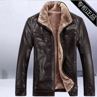 (CZ0184) HOT!!Winter warm motorcycle Leather jacket Men's Casual Brand Jacket luxury fur leather men's Fur coat - Sweet Heart Fashion Store store