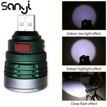 USB טעינת ממשק שימושי כיס פנס נייד מיני Zoomable 3 מצבי לפיד מנורת lanterna לרכיבה קמפינג לילה ללכת