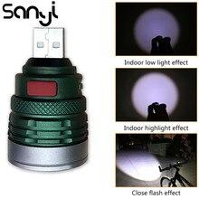 USB şarj arayüzü kullanışlı cep el feneri taşınabilir Mini zumlanabilir 3 modları Torch lambası lanterna kamp sürme için gece yürüyüşü