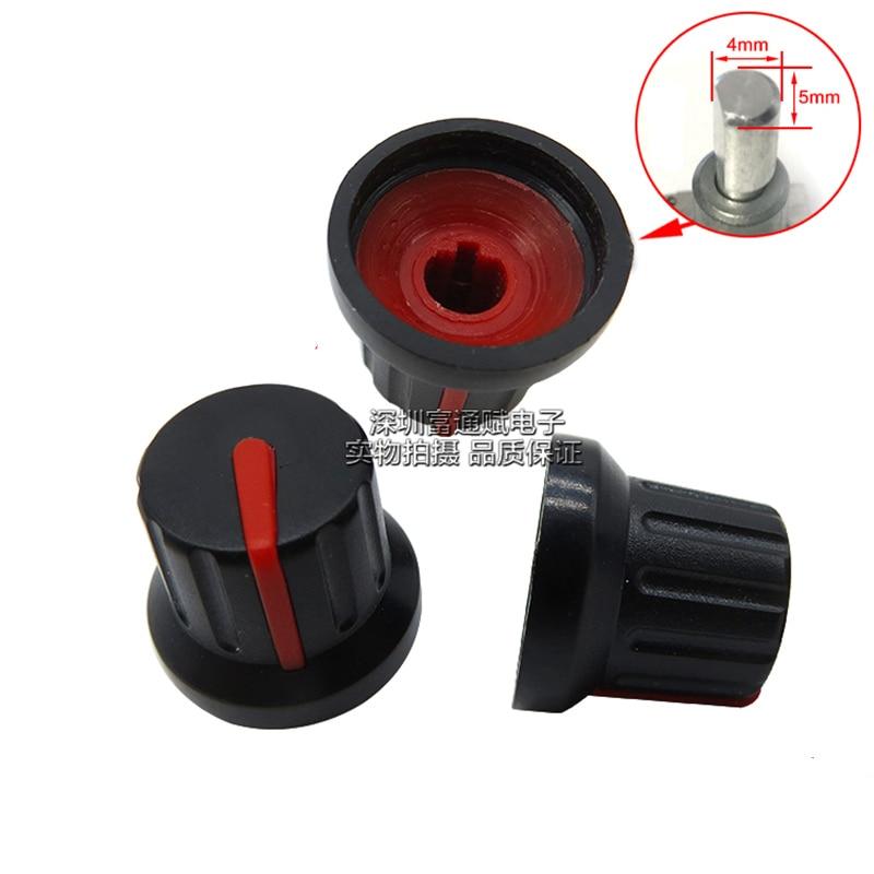 10pcs Non-standard Hole Plastic Knob Half-axis Potentiometer Encoder Diameter 12MM-16MM Height 14.5MM Inner Hole Diameter 5MM