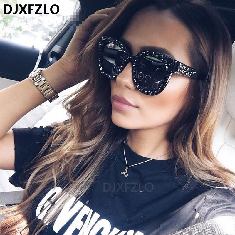 New Sunglasses Women Brand Designer Luxury Sun Glasses Cat Eyes Sun Glasses Driving Vintage Hollow Shades Oculos Dropshipping