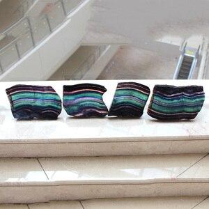 Image 5 - Cristal de fluorita Natural colorido a rayas fluorita cuarzo Arco Iris joyería piedra adornos cristal original para regalos