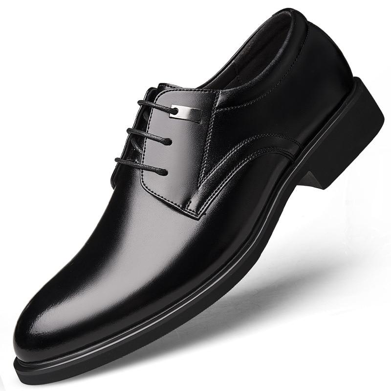 Été Printemps Black En Véritable Hommes Respirant Robe Casual Cuir Bureau Richelieus Luxe Formelle Chaussures De breathable Business Qffaz Black ptqwFp