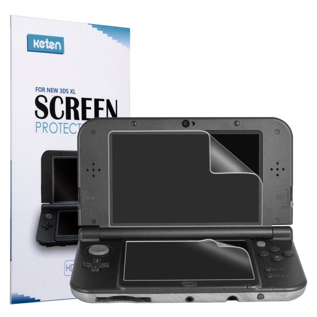 Protetor de tela para Nintend 2 3DS XL Game Console Pack Ultra Clear on