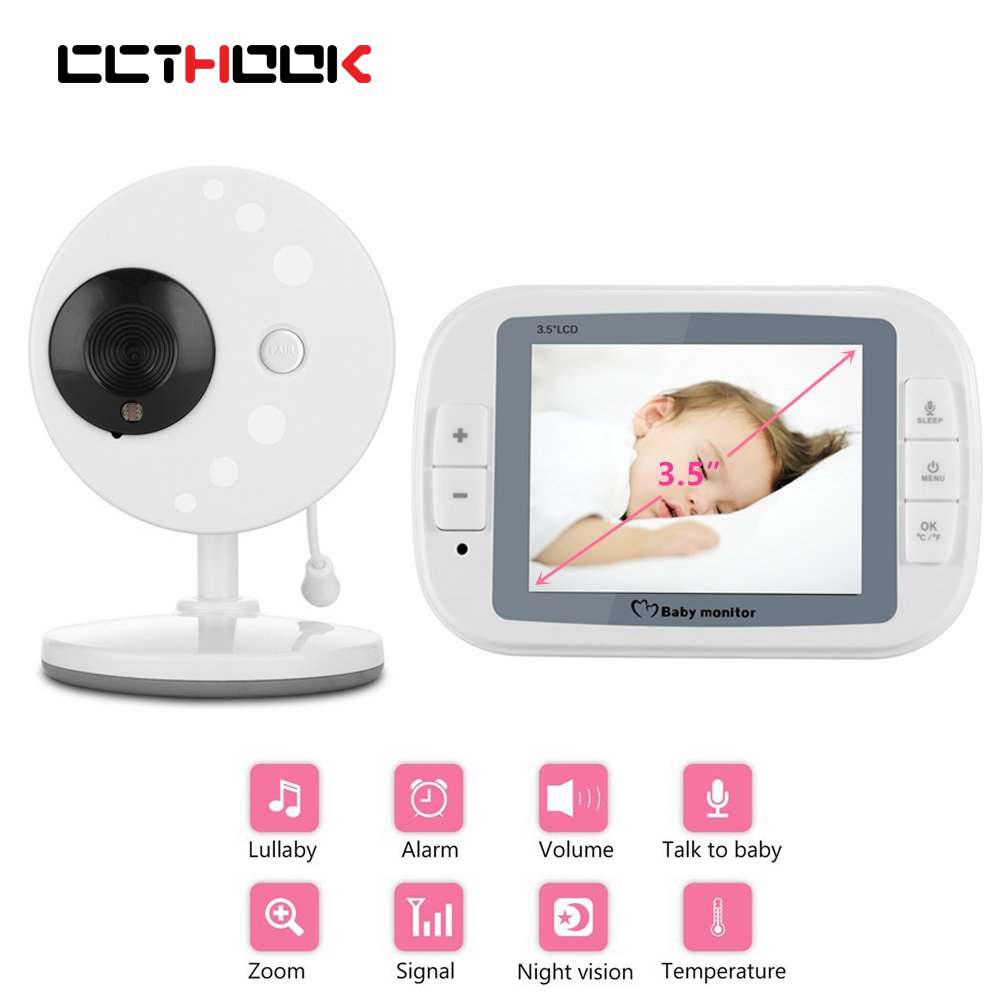 3.5 inch Wireless Video Color Baby Monitor FHD Baby Nanny Security phone Camera 2 Way Talk Night Vision Temperature Monitoring