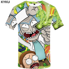 KYKU Brand Rick And Morty T-shirt 3d Anime T Shirts Funny Chinese Printed Mens Tee Male Clothing Sexy Tops Hip Hop