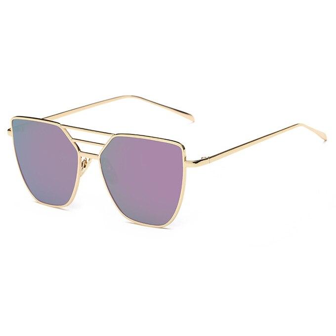 Flat Top Rose Gold Muškarci Ženska ogledala Sunčane naočale Modni - Pribor za odjeću - Foto 3