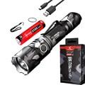 Кларус XT11GT светодиодный фонарик 2000 люмен CREE XPH35 HD E4 Тактический USB Перезаряжаемые плавный тусклый фонарь с батареей 18650 Батарея (урбанистиче...