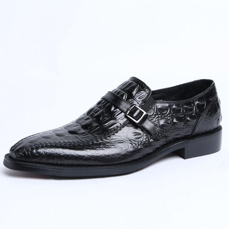 Qyfcioufu Sapatos Padrão Pontas Crocodilo Formal Italiano Para Preto Casamento De Sapatas marrom Dedo Couro Genuíno Vestido Homens Pé Oxford Do FrzFq5wxS