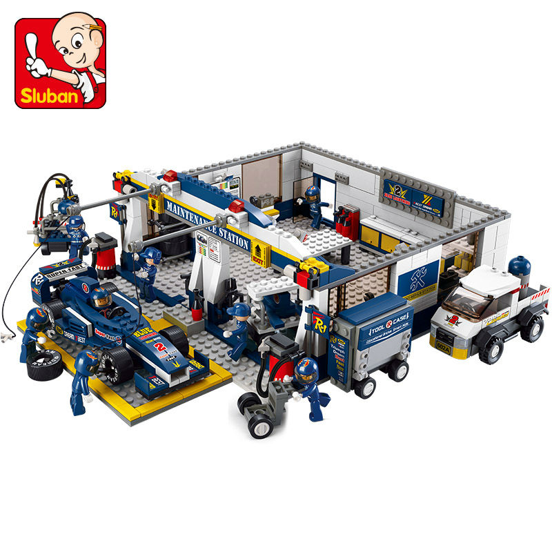 Sluban F1 Racing Car 741pcs Educational Bricks Toy Without orignial Box Children DIY Kids Toys Kids