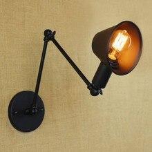 Aplique de Pared estilo Loft Vintage Edison, espejo plegable, accesorios de iluminación de Pared, lámpara de Pared industrial para iluminación de interiores, lámparas de Pared