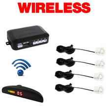 Silver Car LED 4 Wireless Parking Sensor Backup Radar #FD-882