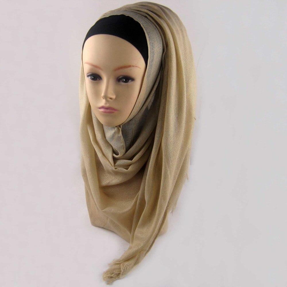 Мусульманский хиджаб мерцание шарф хиджабы блестящий шарфы мерцающий шаль, можете выбрать цвет - Цвет: color8
