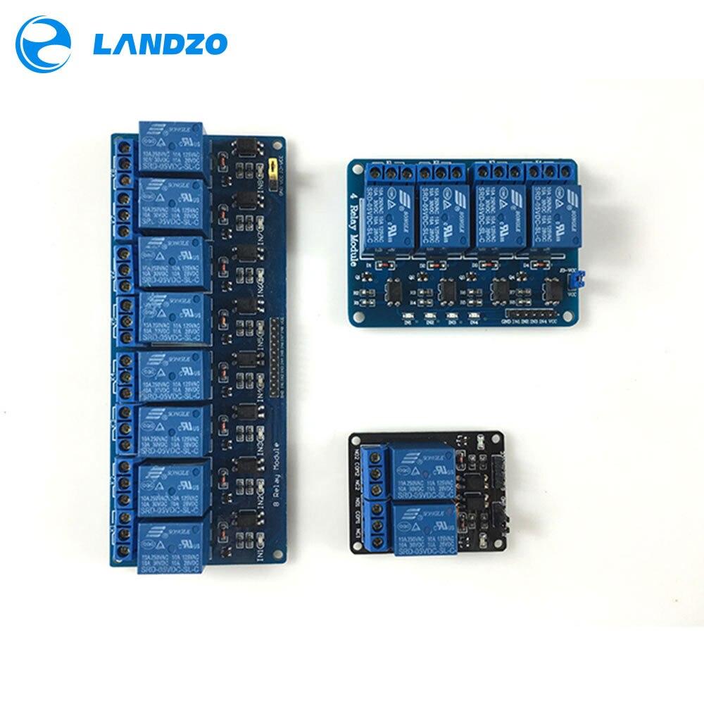 Livraison gratuite 3 pcs/lot 2 canal relais modules relais kit panneau de contrôle PLC 5 V & 4 canal relais 8 canal