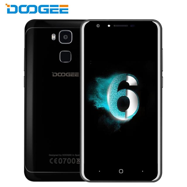 Original doogee y6 piano negro teléfono celular 4g ram 64 gb ROM Octa Core MTK6750 5.5 pulgadas 3200 mah Android 6.0 Huellas Dactilares Smartphone