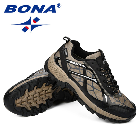 BONA Outdoor Sports Camping Shoes Men Tactical Hiking Shoes For Summer Breathable Waterproof Coating Men Athletic Shoes Multan