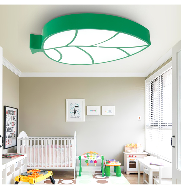 A1 personalized creative cartoon childrens room ceiling lamp leaves kindergarten amusement park childrens clothing shop et88
